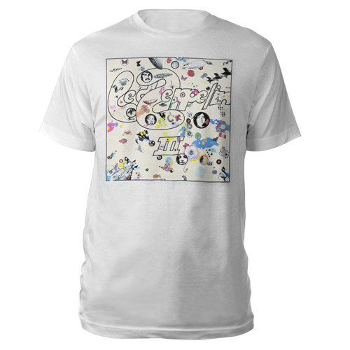 Led Zeppelin III Album White T-Shirt