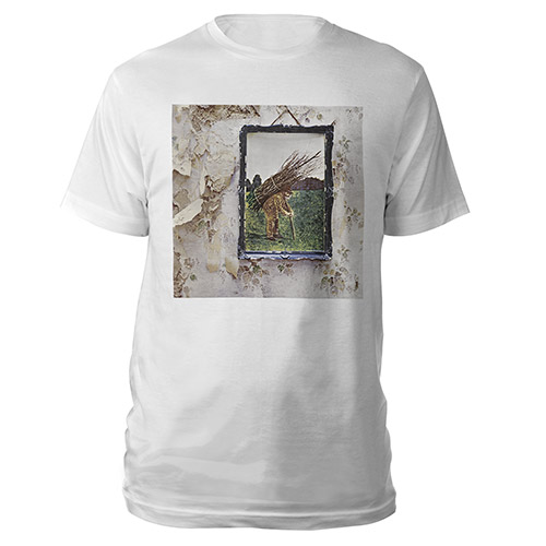 Led Zeppelin IV Album White T-Shirt