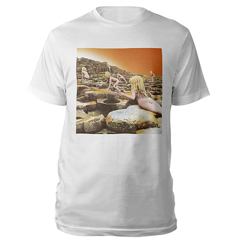 Led Zeppelin Houses Of The Holy Album White T-Shirt
