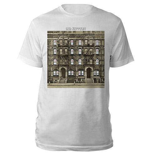 Led Zeppelin Physical Graffiti Album White T-Shirt