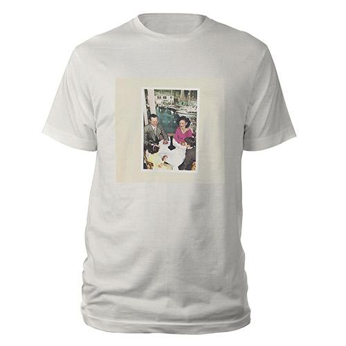 Led Zeppelin Presence Album Vintage White T-Shirt