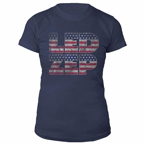 LED ZEP Stars 'n' Stripes Women's Navy T-Shirt