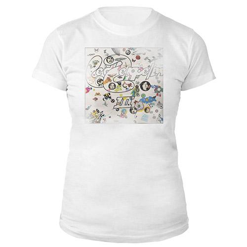 Led Zeppelin III Album Women's White T-shirt