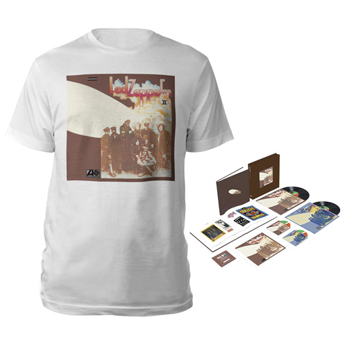 Led Zeppelin II Super Deluxe Edition Box Set + Album White T-Shirt