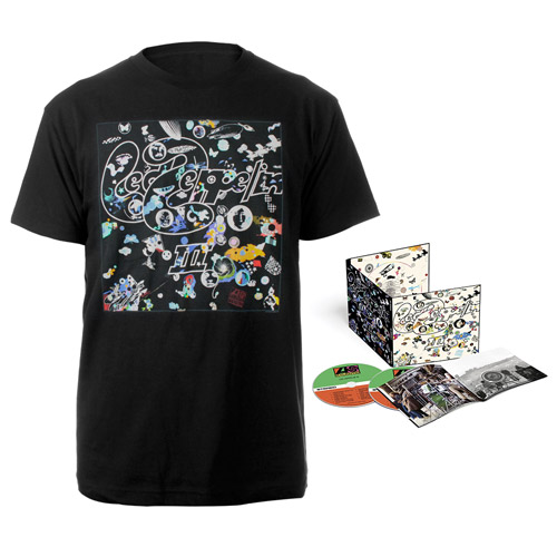 Led Zeppelin III Deluxe Edition CD + Companion Album Black T-Shirt