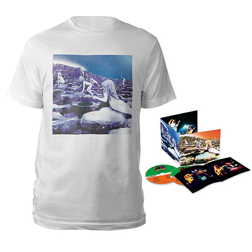 Led Zeppelin Houses Of The Holy Deluxe Edition CD + Companion Album White T-Shirt