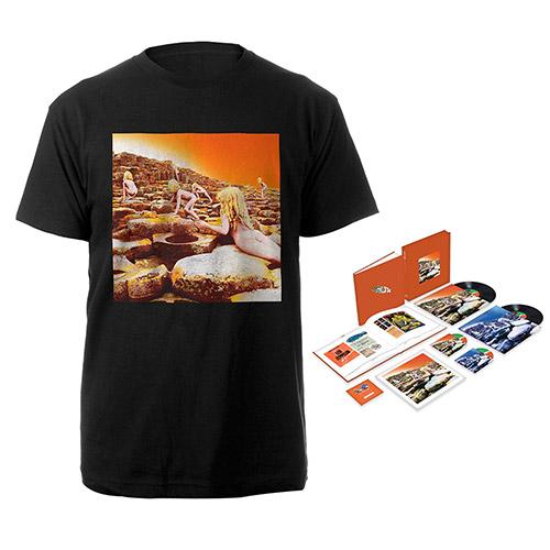 Led Zeppelin Houses Of The Holy Super Deluxe Edition Box Set + Album Black T-Shirt