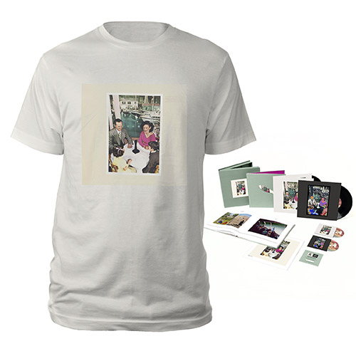 Led Zeppelin Presence Super Deluxe Edition Box Set + Album Vintage White T-Shirt