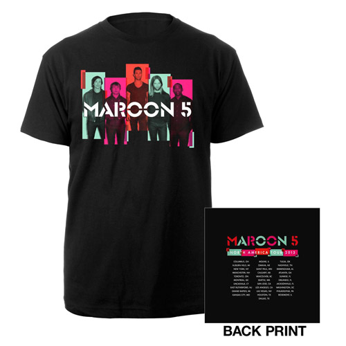 Maroon 5 Photo Blocks Summer Tour Tee