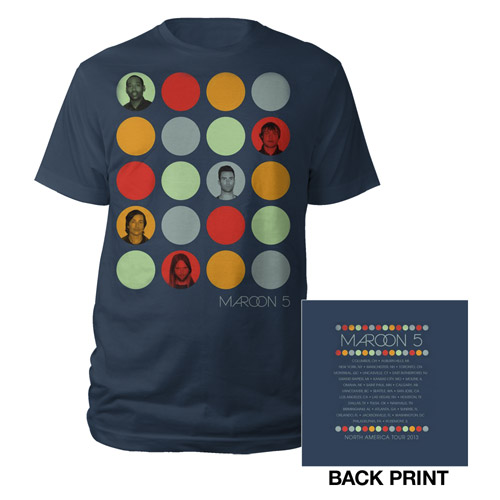 Maroon 5 Photo Circles Summer Tour Tee