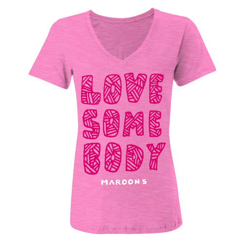 Maroon 5 Love Somebody Women's V-Neck Tee
