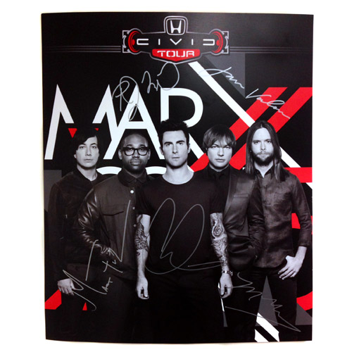 Maroon 5 Signed Honda Civic Tour Poster