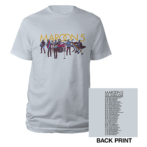 Maroon V Tour Photo Art Tee*