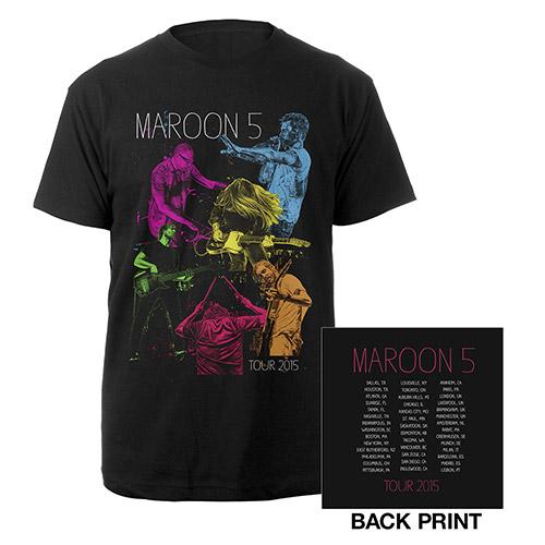 Maroon V Tour Neon Tee