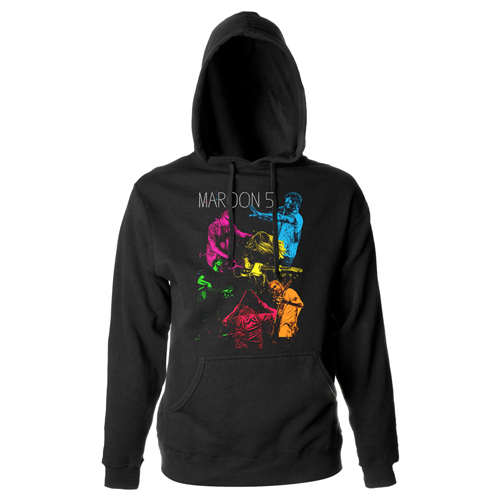 Maroon 5 Neon Pull-Over Hooded Sweatshirt