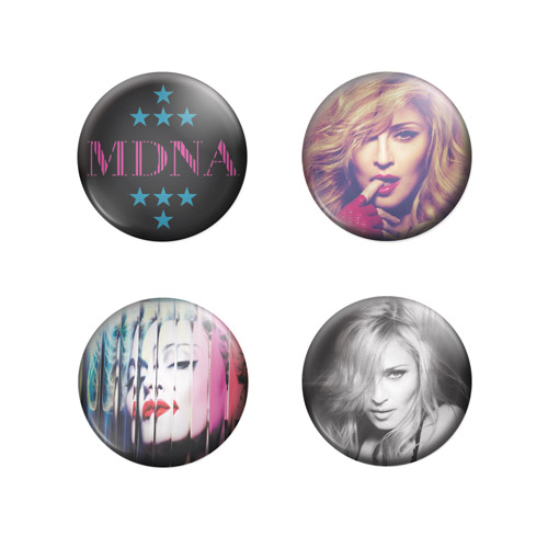 MDNA Button Badges