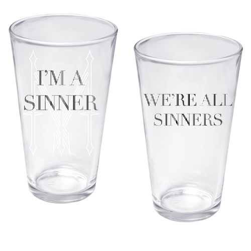 Madonna I'm A Sinner Pint Glass