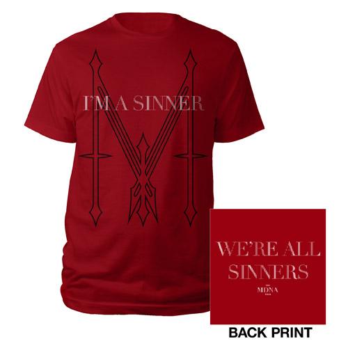 Madonna I'm a Sinner Red Men's Shirt