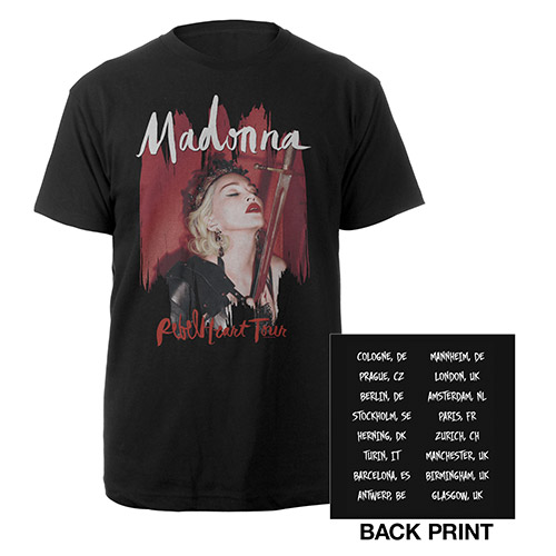 Madonna Rebel Heart European Tour Tee