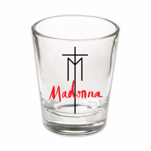 Madonna Cross Logo Shot Glass