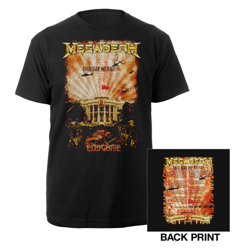 Megadeth China Whitehouse Tour Tee