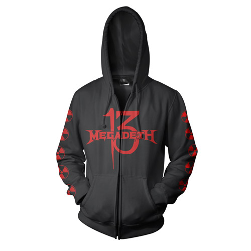 Megadeth Th1rT3en Zip-Up Hoodie