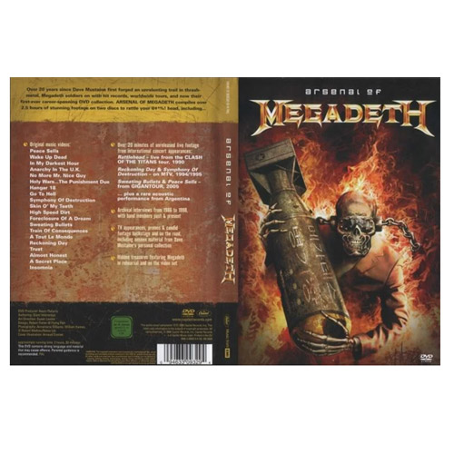 "Megadeth ""Arsenal of Megadeth"" DVD"