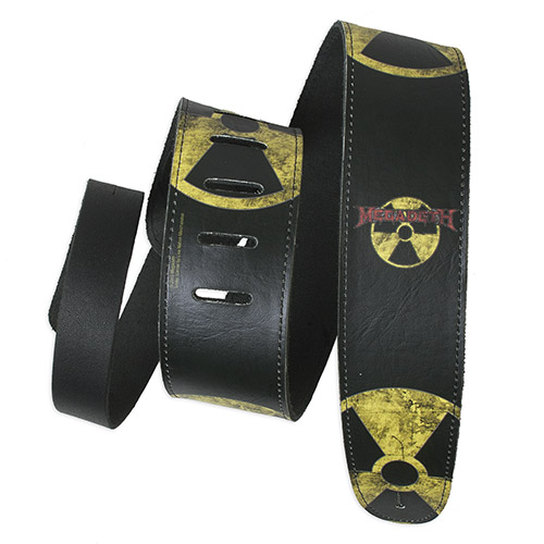 Megadeth Hazard Adjustable Leather Guitar Strap