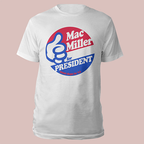 Mac Miller For President t-shirt