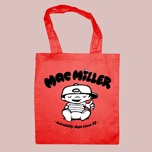 Mac Miller Red Tote Bag