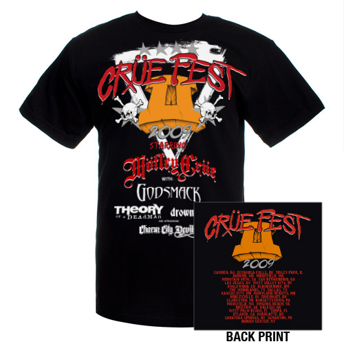 Click to buy this 2009 Motley Crue tour tshirt