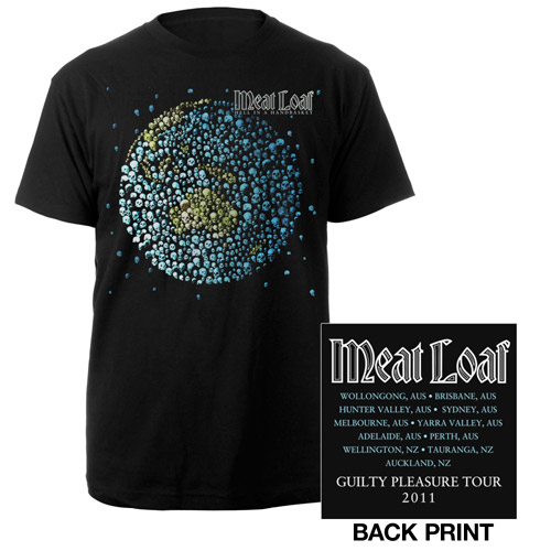 New - 2011 Meat Loaf Australian Tour Tee