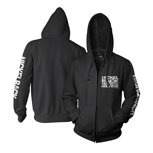 No Fixed Address Zip-Up Hooded Sweatshirt