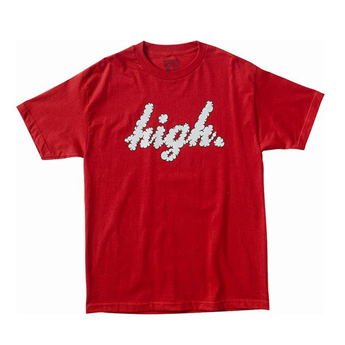 DOMO HIGH CLOUDS TEE RED