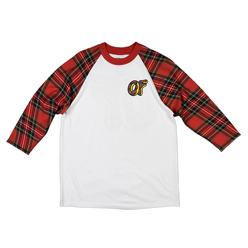 PLAID DONUT RAGLAN RED