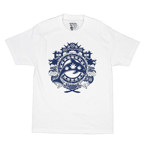 YEAR OF THE DOLPHIN TEE WHITE