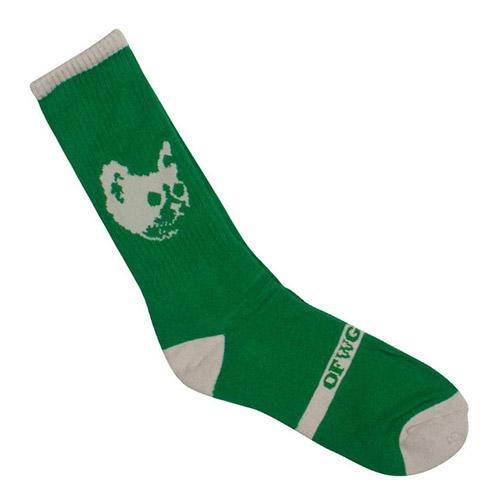 OFWGKTA CAT SOCKS GREEN