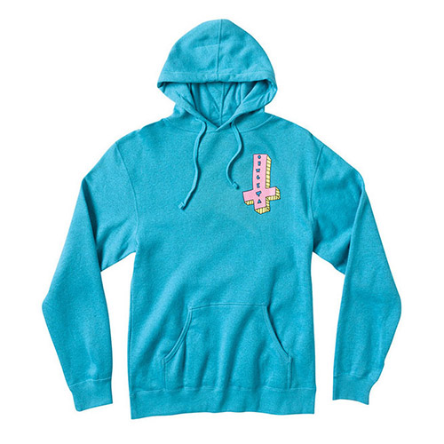 OF ITS US CROSS TURQUOISE HOODIE