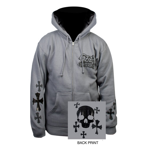 Exclusive - Foil Skull &amp; Cross Ozzy Hoodie