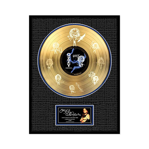 Collectors Edition Ozzy Etched Gold Plated LP