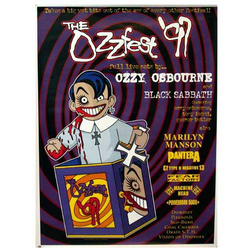 1997 Ozzfest Tour Poster