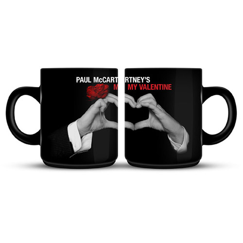 My Valentine Black Photo Mug
