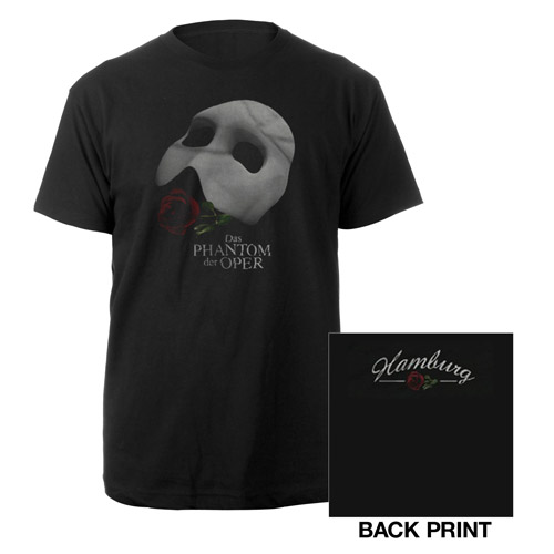 Black Phantom Of The Opera T-shirt German Production