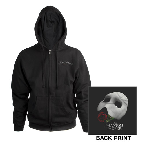 Black Phantom Of The Opera Hooded Sweatshirt German Production