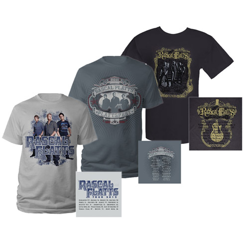 Rascal Flatts Tour Tee Pack