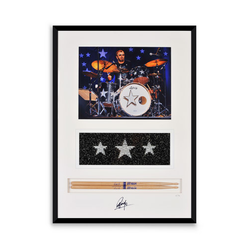 Ringo Starr Limited Edition Collectible Framed Art, Swarovski Crystal