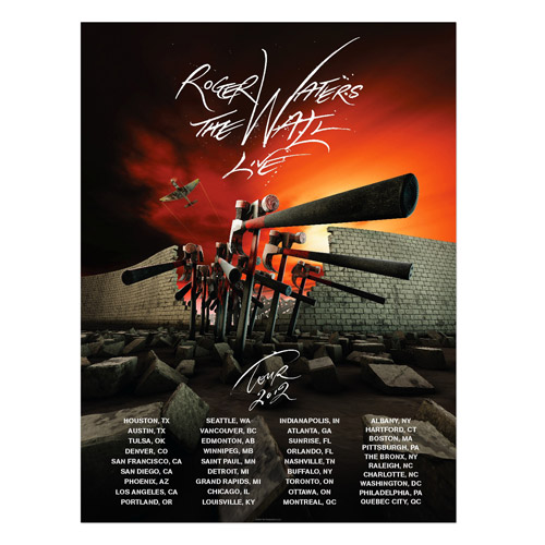 Roger Waters The Wall Live Hammers Tour Poster