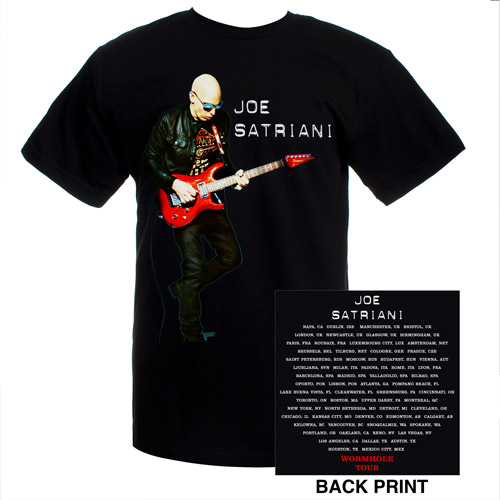 Joe Satriani Wormhole Tour Tee