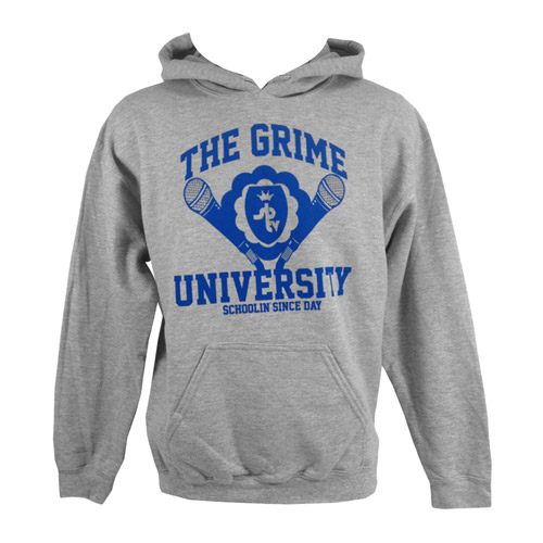 Grime University Hooded Sweatshirt (Grey/Ocean Blue)