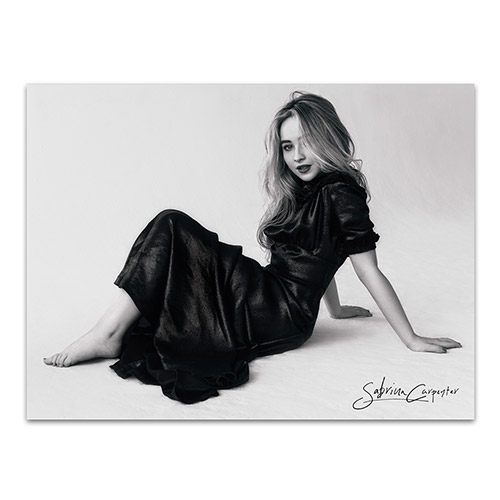 "Sabrina Carpenter Black and White 24""x 18"" Poster"